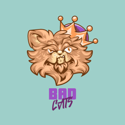 Logo Maker for Clothing Brands Featuring a Tough Cat Illustration 4576j