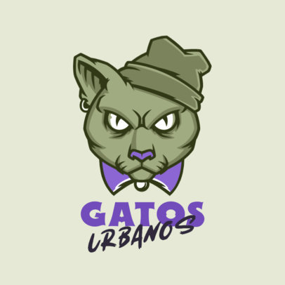 Streetwear Brand Logo Creator Featuring an Angry Cat Illustration 4576q