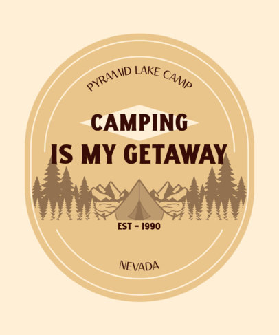 Camping-Themed T-Shirt Design Maker Featuring a Quote and Outdoor Graphics 3965h
