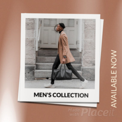 Instagram Post Video Template for a Men's Apparel Collection Ad 2255a 3945