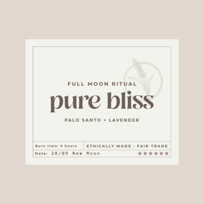 Logo Maker for a Handmade Candles Brand With a Label Layout 4597