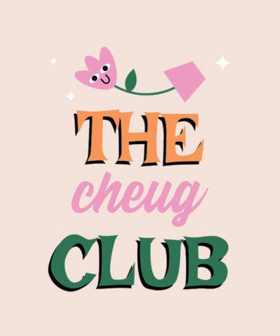 T-Shirt Design Creator Featuring a Cheesy Graphic for a Cheugy Club 3999j