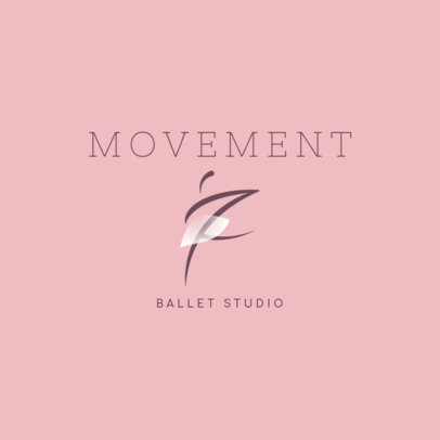 Ballet Studio Logo Generator Featuring a Dancer Clipart 4608c