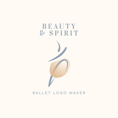 Dance School Logo Template With a Ballet Theme 4608f