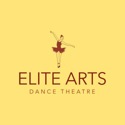 Logo Template for a Theater Featuring a Ballet Dancer 4605a