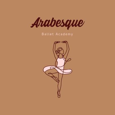 Illustrated Logo Maker for a Ballet Studio 4606a