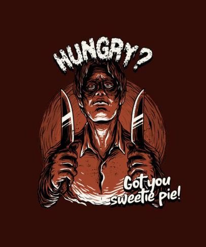 Horror T-Shirt Design Generator with a Vintage Killer Graphic 4349c-el1