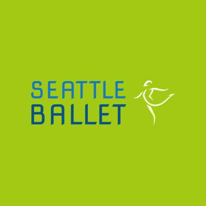 Online Logo Maker for a Ballet Academy Featuring an Abstract Ballerina Graphic 4604e
