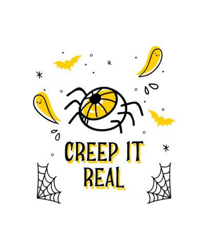 Halloween T-Shirt Design Creator Featuring a Spooky Eye Clipart 4357d-el1