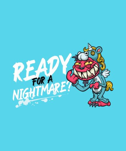 T-Shirt Design Creator with a Horror-Themed Cartoonish Character Graphic 4347c-el1