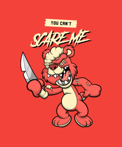 T-Shirt Design Maker Featuring a Teddy Bear with a Knife 4343d-el1