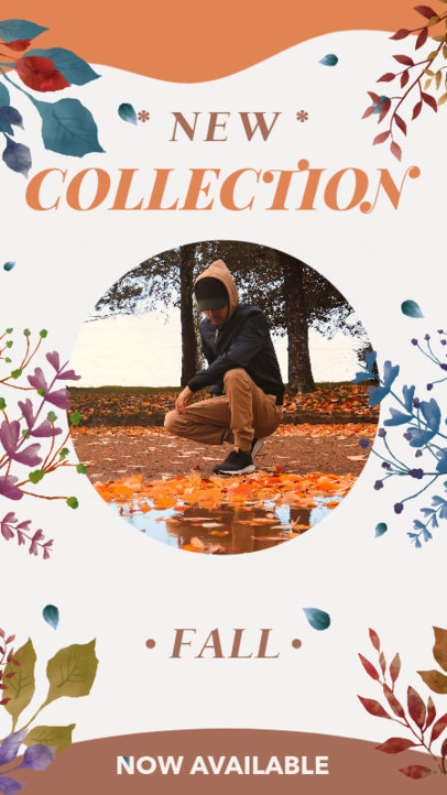 Fall-Themed Instagram Story Design Template for a New Fashion Collection Announcement 3992e