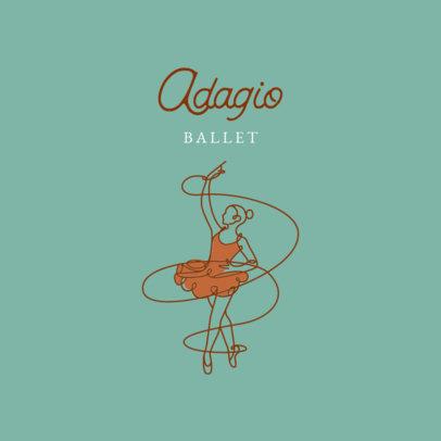 Logo Template for Ballet Studios Featuring a Ballerina Illustration 4606c