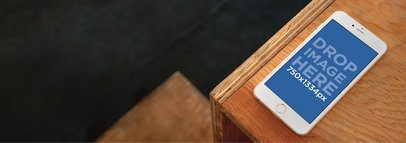 iPhone 6 On Top Of Wooden Desk Wide