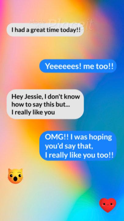 Instagram Story Video Maker Featuring a Text Conversation 3989