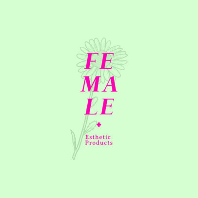 Logo Generator for Organic Beauty Brands Featuring a Daisy Illustration 4601f