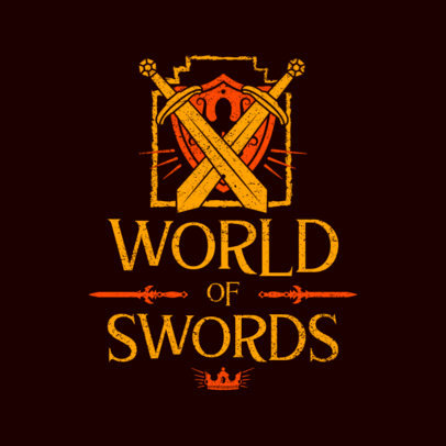 RPG Logo Maker with a Graphic of Clashing Swords 4623D