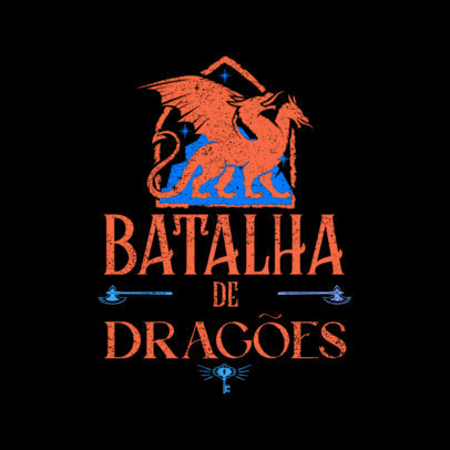 Dragon-Themed Logo Template for an RPG 4623E