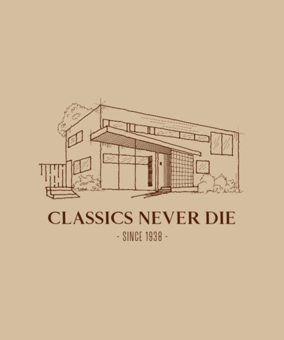 T-Shirt Design Creator for a Fan of Classic Architecture 4027b