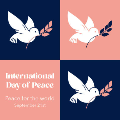 Instagram Post Design Template to Celebrate International Day of Peace 4030