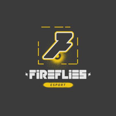 Cyberpunk-Themed Logo Template for an eSports Team 4372d