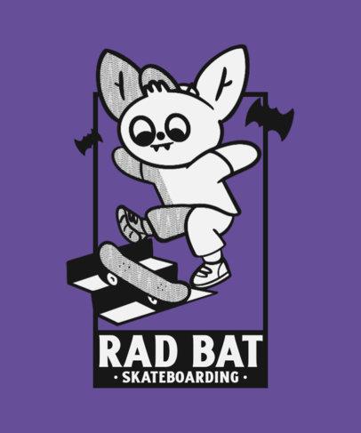 Kids T-Shirt Design Maker Featuring a Skater Bat 4368a