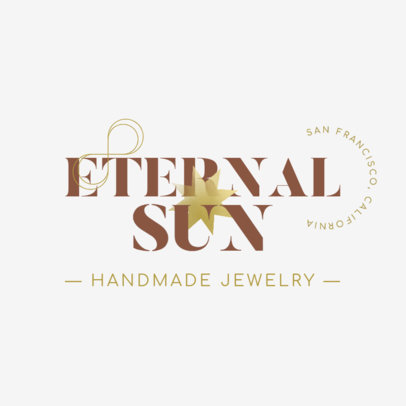 Logo Template for a Handmade Jewelry Brand 4613h