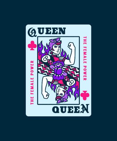 T-Shirt Design Maker Featuring a Queen Card With an Urban Aesthetic 4618b
