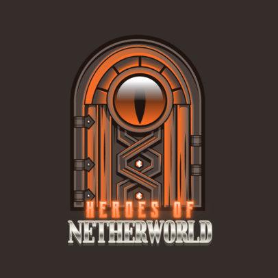 RPG Logo Creator Featuring a Magical Door Clipart 4624c