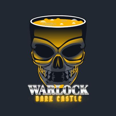 Gaming Logo Maker Featuring a Skull-Shaped Cauldron 4624d