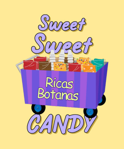 T-Shirt Design Generator Featuring a Snack Stand Illustration 4018b