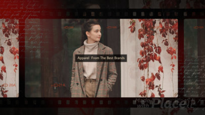 Slideshow Video Template Featuring a Fashion Theme and a Vintage Film Aesthetic 2963a 4006-el1
