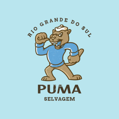 Logo Maker for a Sports Team Featuring a Vintage Puma Cartoon 4614d