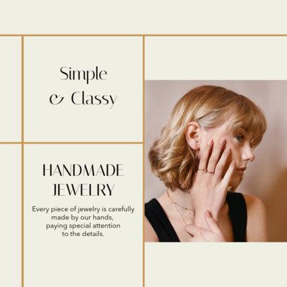 Instagram Post Design Template Featuring Handmade Jewelry Pictures 4330-el1