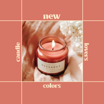 Simple Instagram Post Maker for an Organic Scented Candles Brand 4374e-el1