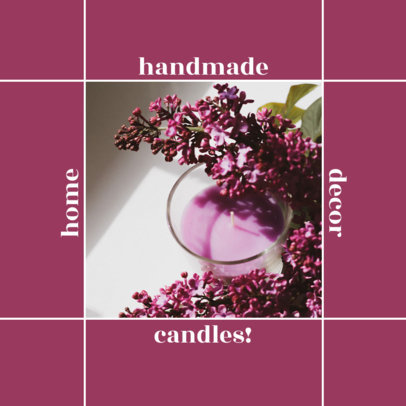 Instagram Post Creator for a Carousel Featuring Artisan Candles Pictures 4374c-el1