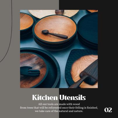 Instagram Post Design Maker to Promote Artisanal Kitchenware on a Carousel 4326b-el1