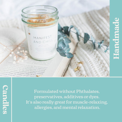 Instagram Post Generator for an Artisan Candles Business 4375b-el1