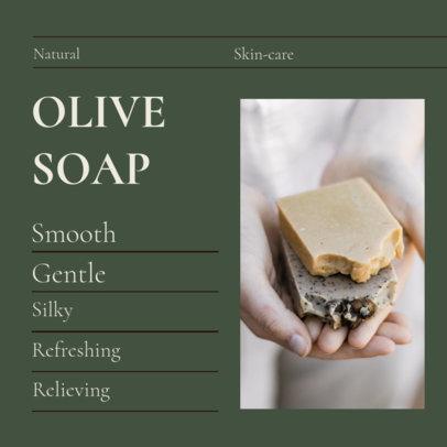 Instagram Post Maker for a Skincare Brand Promoting Natural Soaps 4334a-el1