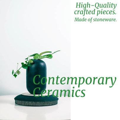 Instagram Post Maker Promoting High Quality Ceramic Items 4337e-el1