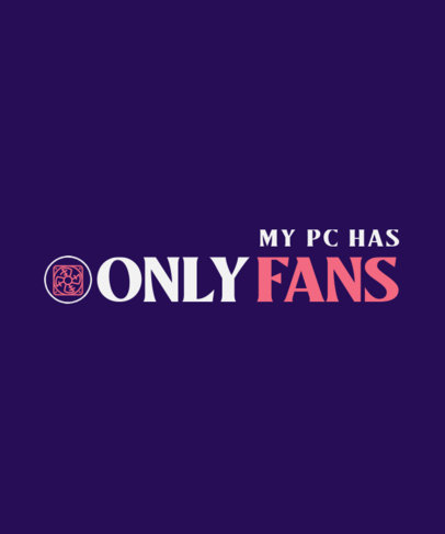 Funny T-Shirt Design Creator with an Only Fans Pun 4053c