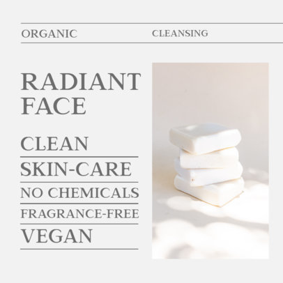 Instagram Post Template for an Organic Cleansing Soap 4334b-el1