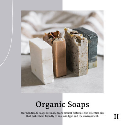 Post Design Maker to Promote Organic Soap on an Instagram Carousel 4326f-el1
