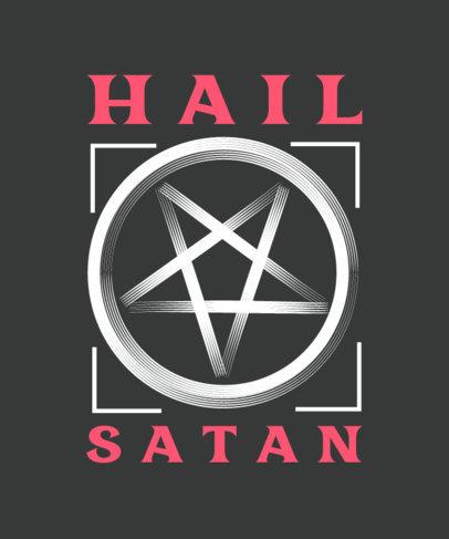 Satanic T-Shirt Design Creator With a Pentagram Clipart 4040e