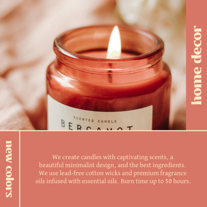 Instagram Post Template for an Online Candle Store 4375e-el1