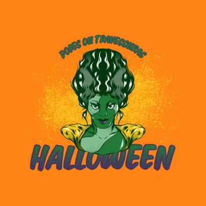 Gaming Logo Creator with an Evil Sorceress Illustration 4637b