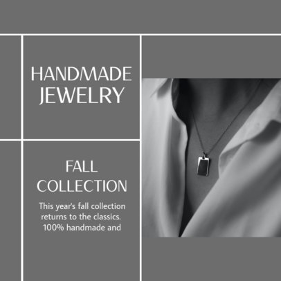 Instagram Post Design Generator Featuring Handcrafted Jewelry and a Carousel Layout 4330d-el1