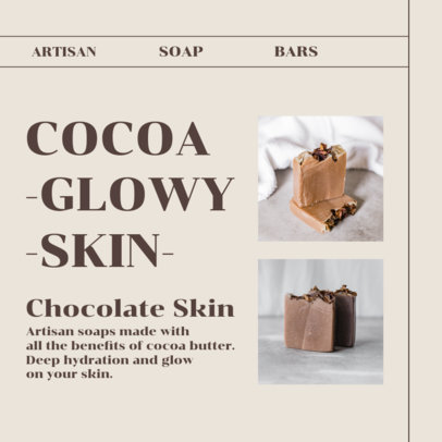 Instagram Post Creator for a Cocoa Soap for Glowy Skin 4335d-el1