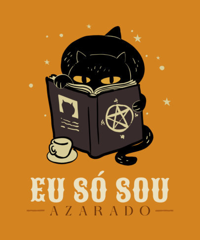 T-Shirt Design Generator with a Bewitching Theme and a Portuguese Quote 4046c