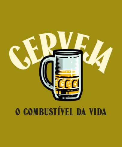 T-Shirt Design Maker With Beer Graphics and Quotes 4048c